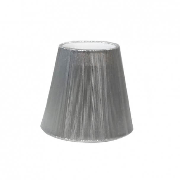 Lampshade - silver tensed thread for chandelier or Wall light - Jasmine