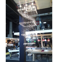 Big Ceiling light - crystal 1.80m Stockholm