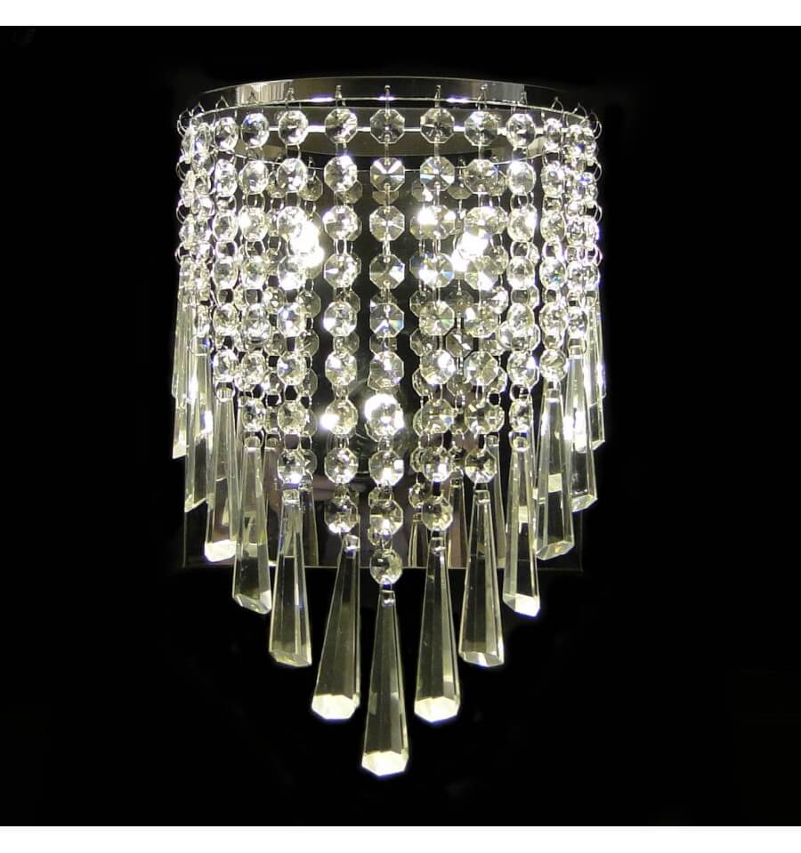 crystal wall light moosach kosilight. Black Bedroom Furniture Sets. Home Design Ideas