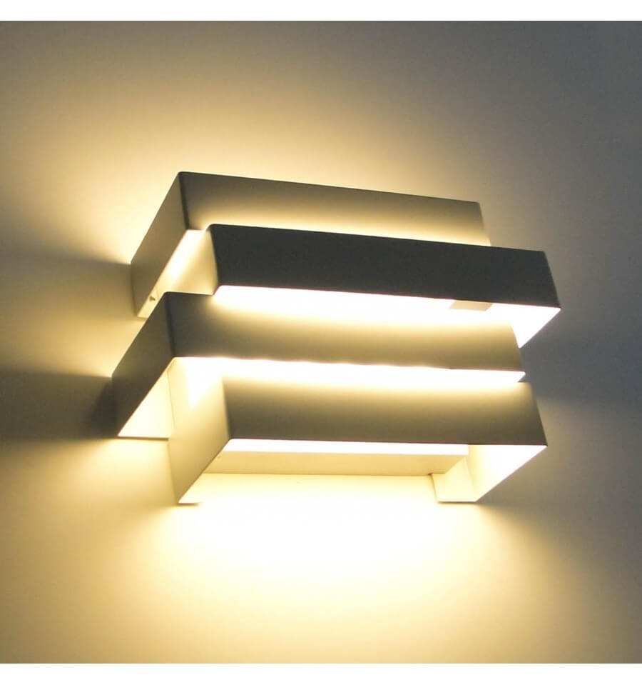 Wall light led modern design scala 6x1w for Cube luminaire exterieur