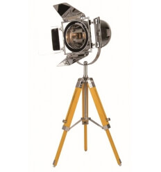 Floor lamp - tripod vintage yellow cinema (E14)