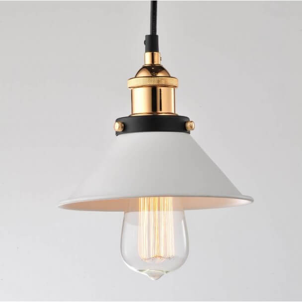 Pendant Light Retro Conical White Gillian