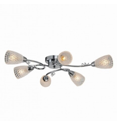 Ceiling light - design 6 Light glass Abella