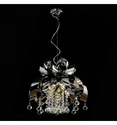 Pendant light - crystal/chrome loop Malice