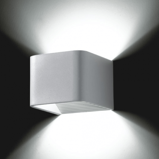 Wall light - LED design rectangle 6x1W - 10cm