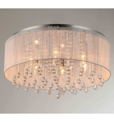 Ceiling light - crystal + chrome design Adena
