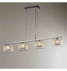 Pendant light - bar design chrome 4 Light - Collection Calluna