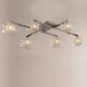 Ceiling light - design chrome 6 Light - Collection Calluna