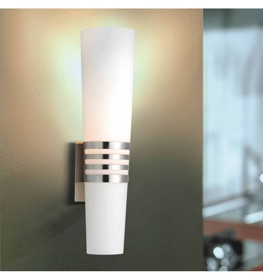 Wall Light Metal Box : Wall light - design glass and metal cylinder