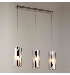 Pendant light - design multiple triple buis glass (E14) Ophyse