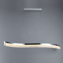 Pendant light - design chrome LED Wave