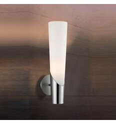 Wall light - design candles white glass