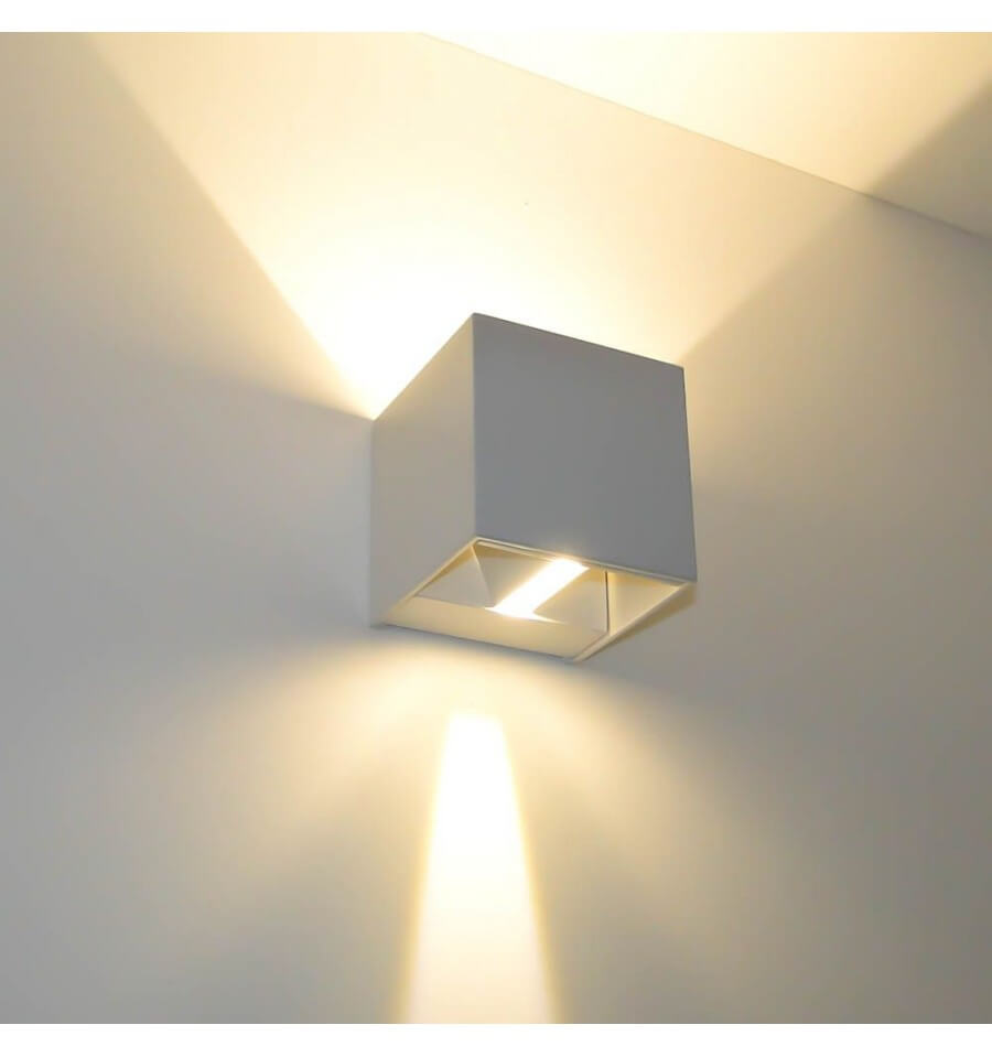 Wall light white design cubic - Appliques murales interieures ...