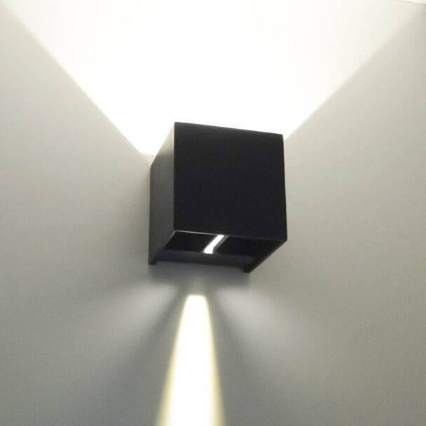 Wall light - black LED design Cubic