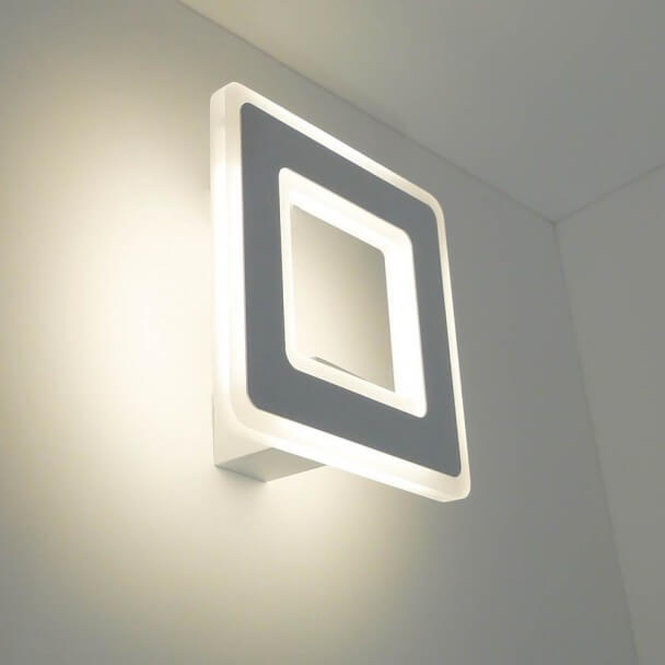 Indoor Wall String Lights : Wall light - white and square Verone