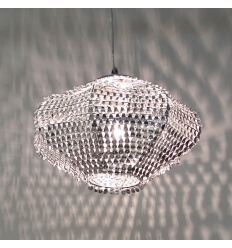 Pendant light - design shell metal Otello