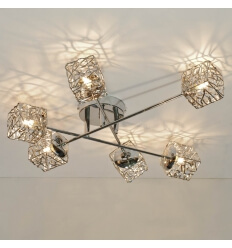 Ceiling light - metal 6 Light APHYSE