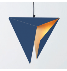 Pendant light - design gold and blue - Delta