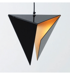 Pendant light design gold black Delta