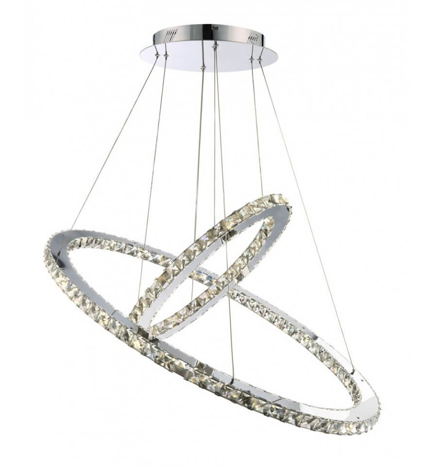 Crystal Pendant Light 2 Led Rings Quot Oslo Quot Kosilight
