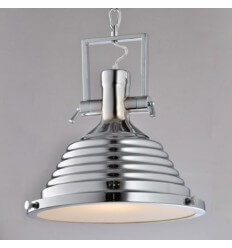 Pendant light - chromed pleatede (1xE27) - Lutia