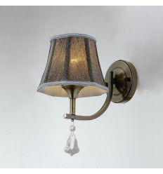 Wall light - lampshade fabric brown with Pendant 1xE14