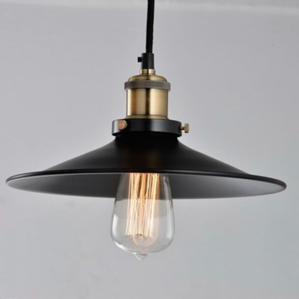 Pendant light - conical black and bronze - Scopa