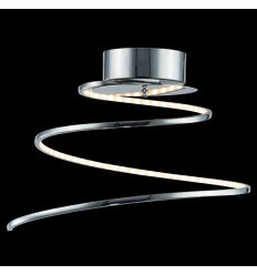 Ceiling light - design LED chromed spiral - Looper