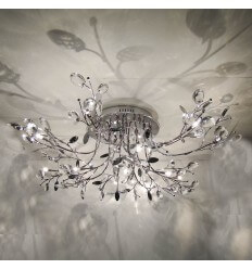 Ceiling light - chrome crystal remote Aiken