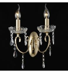 Wall light - 2 Light crystal baroque with Pendant gold - Pavia