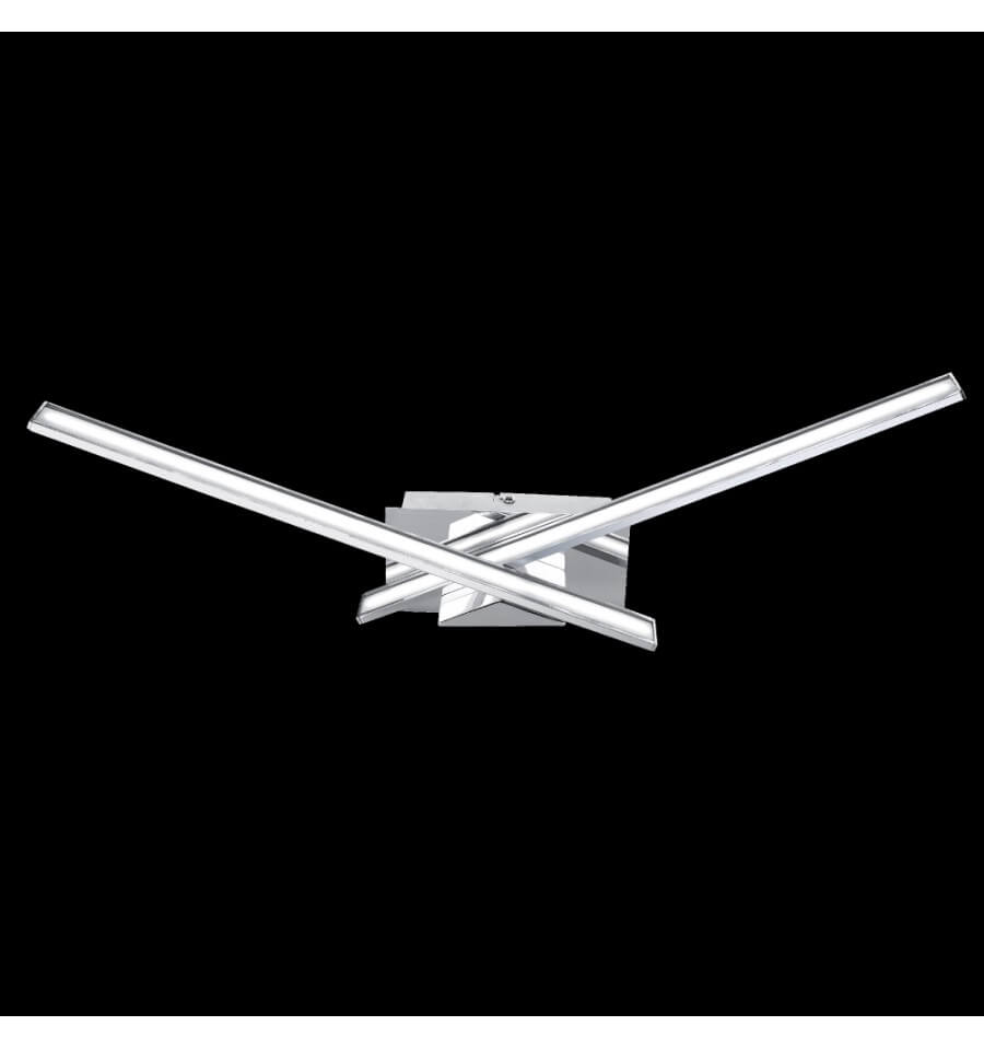 Wall Design Led : Wall light design led chromed silver yuna