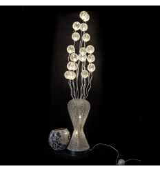 Large aluminum LED lamp flower vase - Barbara