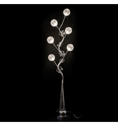 Large aluminum LED lamp flower - Lydia