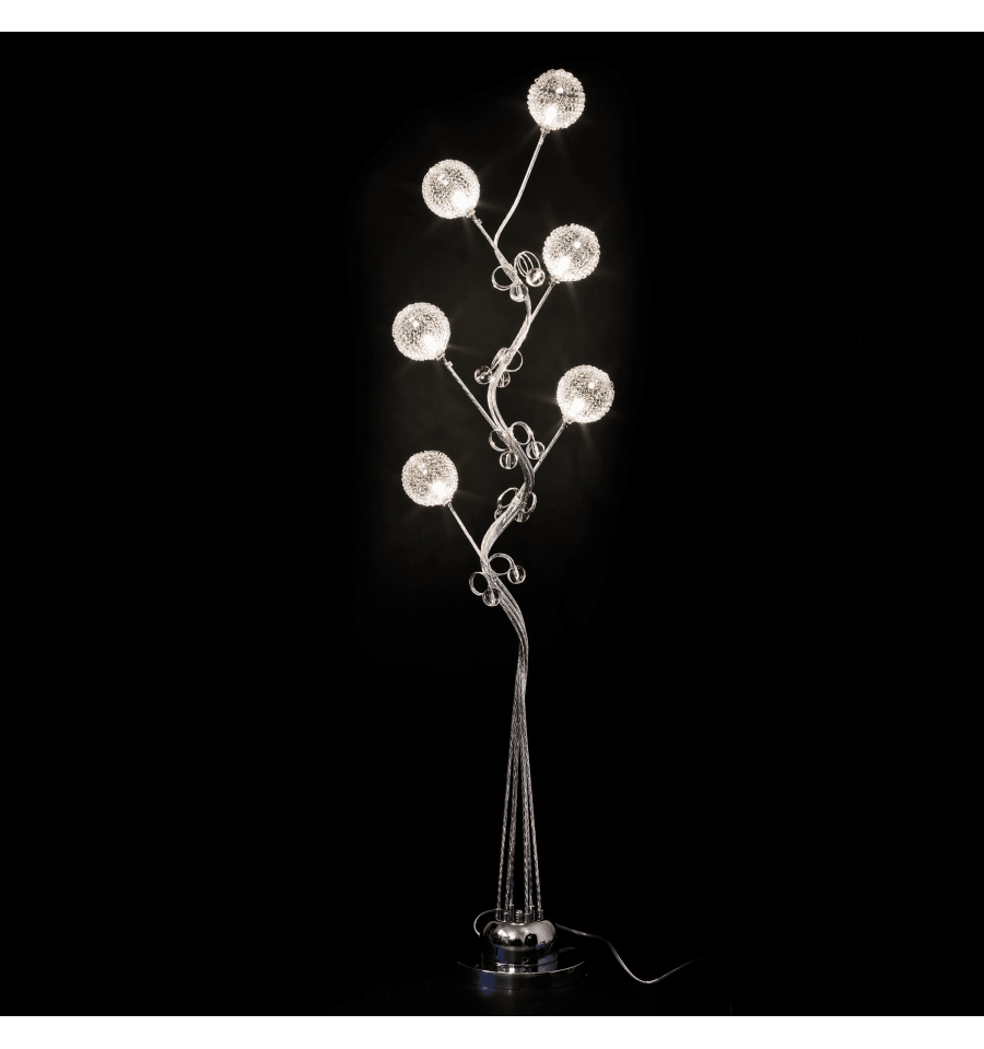 Large aluminum led lamp flower lydia for Large flower floor lamp