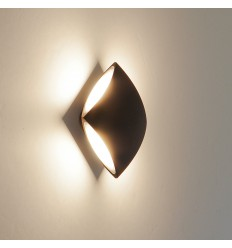 Wall light - LED square aluminium black design - Bowa