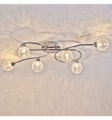 Ceiling light - 6 spheres long glass design - Olbi