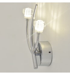 Wall light - double LED + crystal