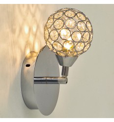 Wall light - simple crystal/chrome - collection Callopa
