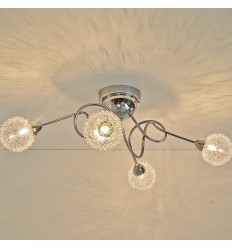 Ceiling light - 4 spheres glass design - Olbi