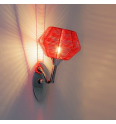 Red Design Wall Light - Paris