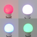 Ampoule LED E27 6W RGB - Multicolore