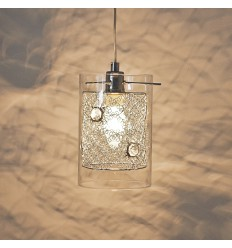 Cylindrical Glass Pendant Light - Camelia