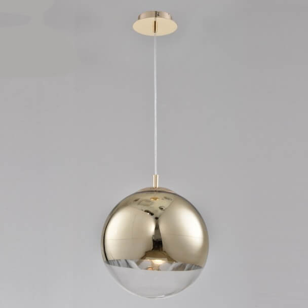 Pendant light - design golf/transparent glass Globe