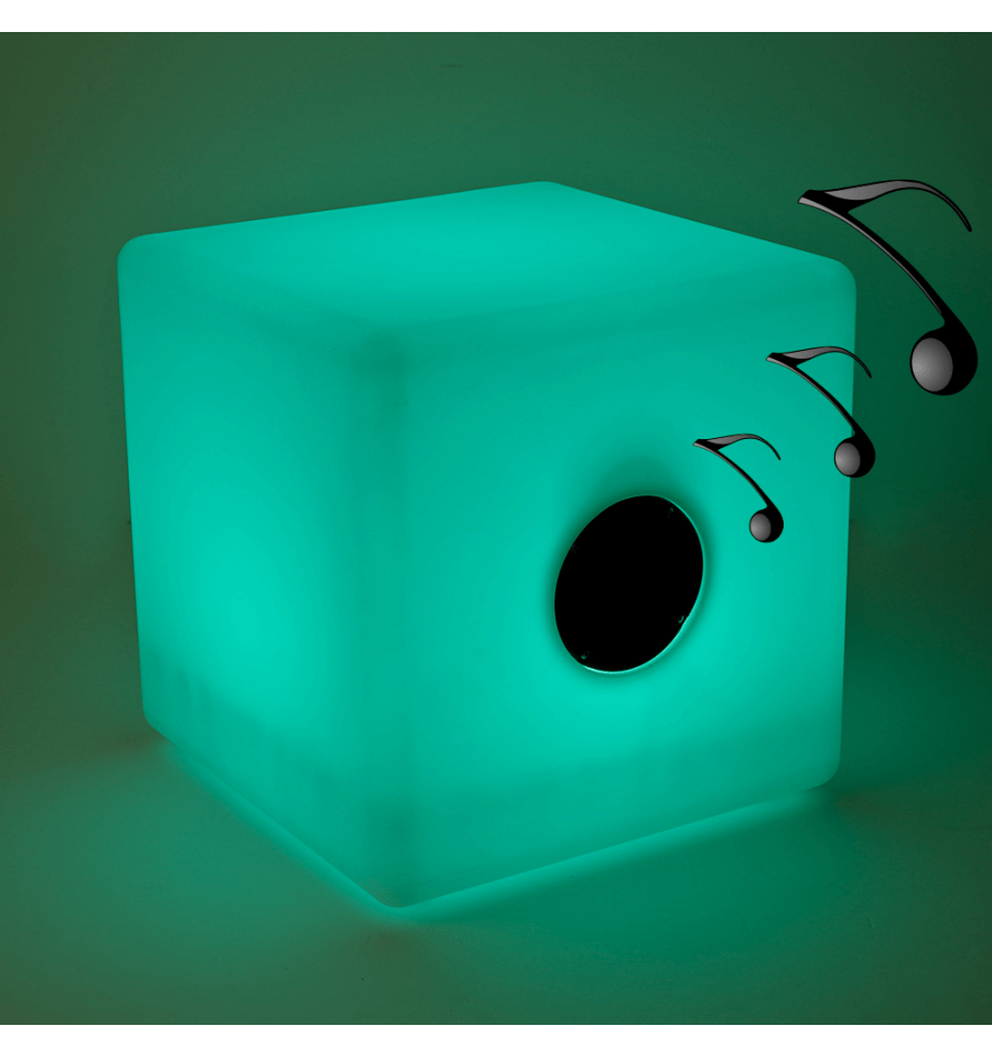 Light Up Cube Led And Bluetooth Speakers 40 Cm