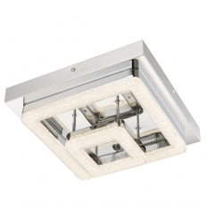 Ceiling light LED crystal 2 squares design - Calypso