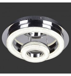Ceiling light LED crystal 2 circles D28 cm - Vivaldi