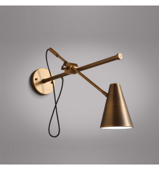 Conical Wall Light with Antique Brass - Arra