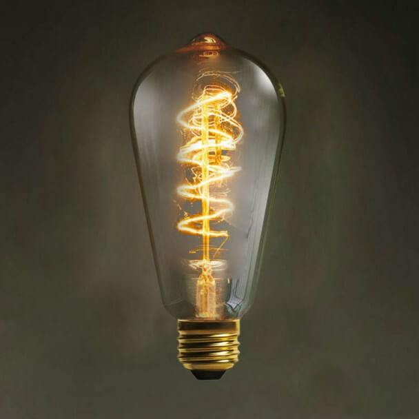 E27 Incandescent Spiral Filament Bulb 40W - Warm White