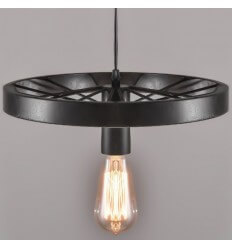 Pendant light modern design black metal 30 cm - Bike