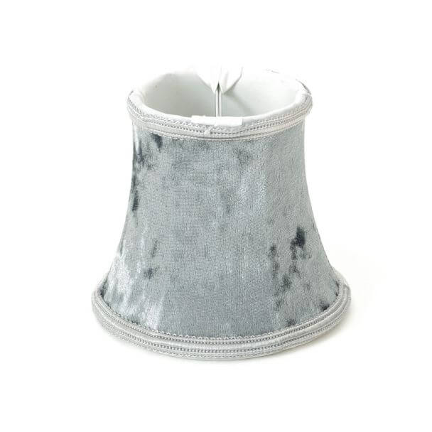 Lampshade grey flanel modern for chandelier or Wall light - Maé